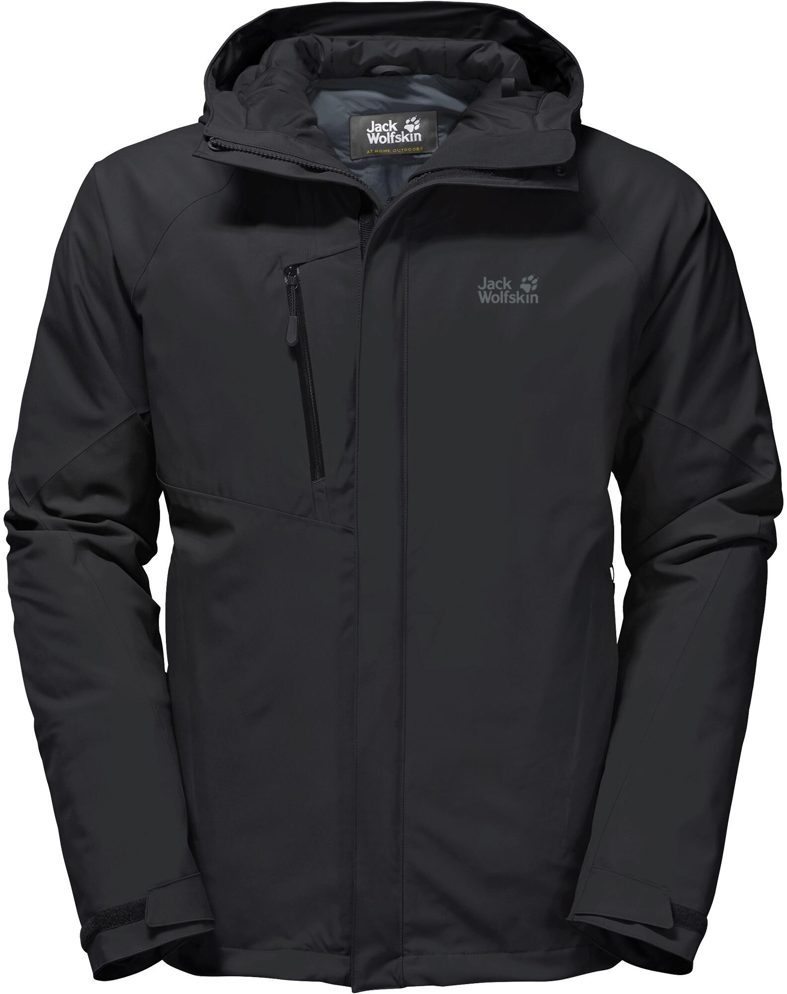 Jack Wolfskin Troposphere Jacket Men black at Addnature.co.uk